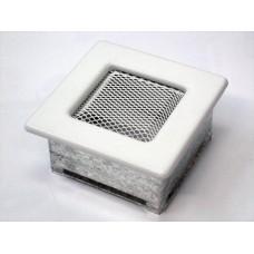 Вентиляционная решетка Kratki 11х11 белая
