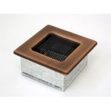 Вентиляционная решетка Kratki 11х11 гальваника под медь