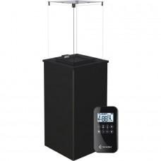 Газовый нагреватель Kratki PATIO MINI/G31/37MBAR/S - сталь, с пультом ДУ