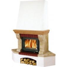 Камин ABX Glasgow Klasik угловой (деревянная балка)