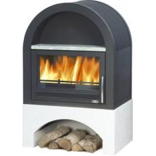 Камин ABX Grunt (черная сталь)
