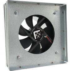 Вентилятор-переходник от трубы к решетке Kratki 17х17 d-100мм(с термостатом)