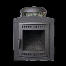 Банная печь Prometall Атмосфера в ламелях Жадеит перенесенный рисунок