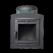 Банная печь Prometall Атмосфера в ламелях из натурального камня Змеевик наборный