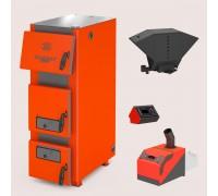 Комплект: отопительный котел Теплодар Куппер ПРО 42 (2.0) + горелка пеллетная Комфорт 42 + бункер котельный