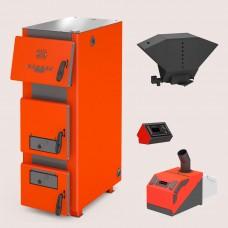 Комплект: отопительный котел Теплодар Куппер ПРО 22 (2.0) + горелка пеллетная Комфорт 26 + бункер котельный