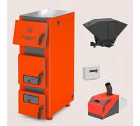 Комплект: отопительный котел Теплодар Куппер ПРО 42 (2.0) + горелка пеллетная Норма 42 + бункер котельный