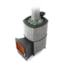Дровяная банная печь Термофор Альфа Гардарика Inox ЧДБСЭ ЗК серый гранит