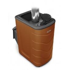 Дровяная банная печь Термофор Гейзер 2014 Carbon ДА ЗК терракота