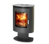 Дровяная печь-камин отопительная Термофор Визиера черная бронза, Ø 150 мм