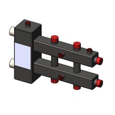 Гидроразделитель Zota с коллектором горизонтальный, 3 контура, до 70 кВт