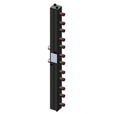 Гидравлический коллектор Zota вертикальный, 6 контуров, до 70кВт