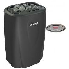 Печь электрическая Harvia Moderna V45E-1 Black (чёрная, выносной пульт в комплекте) HVE450230M