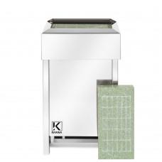 Электрическая печь KARINA Люкс 10 кВт 380В в камне жадеит горизонтальный
