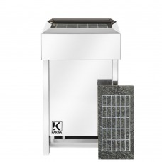 Электрическая печь KARINA Люкс 10 кВт 380В в камне серпентинит горизонтальный