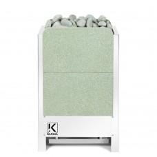 Электрическая печь KARINA Люкс 10 кВт 380В в камне жадеит вертикальный