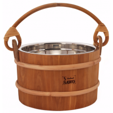 Ведро деревянное SAWO 371-MD (5 литров, со вставкой из нержавейки)