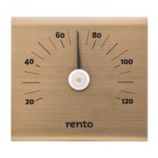 RENTO Термометр алюминиевый для сауны SQ, шампань, арт. 223830