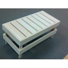 Скамейка для сауны малая SF2, абаш, 830*390*400 мм