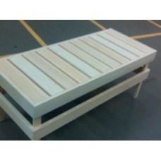 Скамейка для сауны большая SF3, абаш, 1200*430*500мм