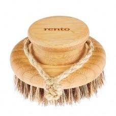 RENTO Натуральная щетка для мытья, круглая, бамбук, 9.5 см, арт. 230002