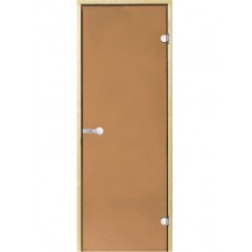 Harvia Двери стеклянные 8/19 коробка сосна, бронза D81901M