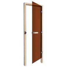 Дверь SAWO 730-3SGA-R 7/19 (бронза, правая, без порога)
