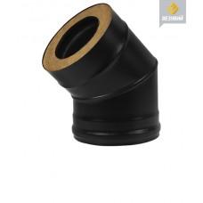 Сэндвич-Колено Везувий BLACK (AISI 430- 08 мм) 45°, Ø115х200