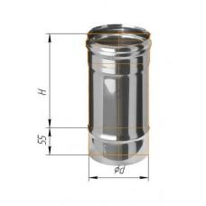 Дымоход L=0,25м (439/0,8 мм) Ф 100