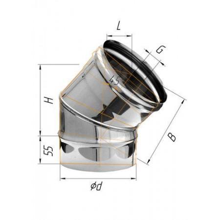Колено (439/0,8 мм) угол 135° Ф 100