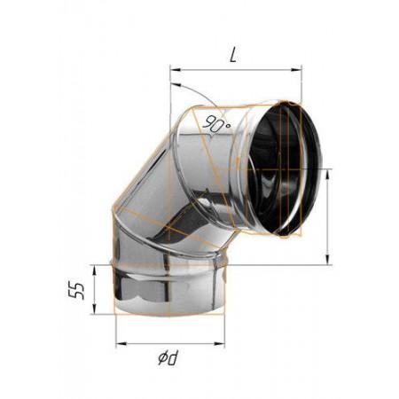 Колено (430/0,8 мм) угол 90° Ø 100