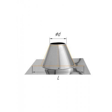 Крышная разделка прямая (430/0,5 мм) Ø 100