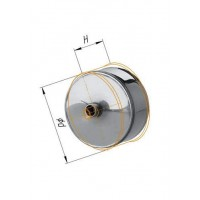 Заглушка с конденсатоотводом (430/0,5 мм) Ф 110 внешняя