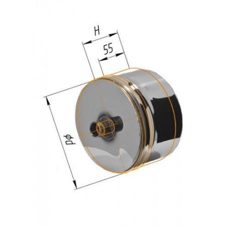 Заглушка с конденсатоотводом (430/0,5 мм) Ø 110 внутренняя