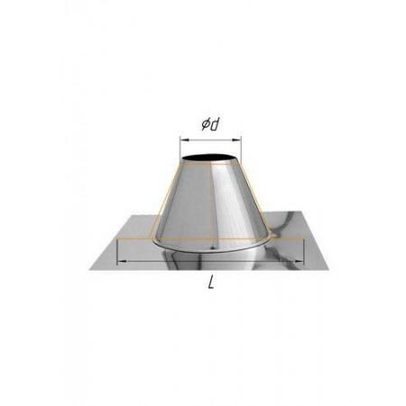 Крышная разделка прямая (430/0,5 мм) Ф 110