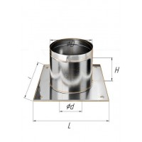 Потолочно проходной узел (430/0,5 мм) Ø 110