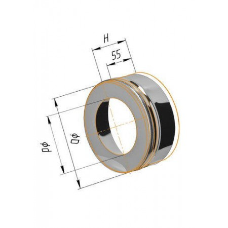 Заглушка с отверстием (430/0,5 мм) Ф 115х200 внешняя