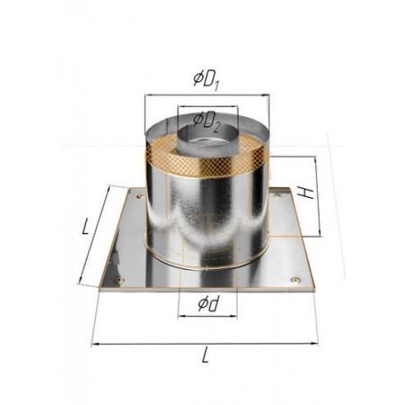 Потолочно проходной узел (430/0,5 мм+термо) Ø 115