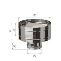 Зонт-К с ветрозащитой (430/0,5 мм) Ф 120
