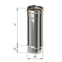 Дымоход L=0,5м (430/0,8 мм) Ø 125 (Н)
