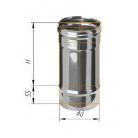 Дымоход L=0,25м (439/0,8 мм) Ф 130