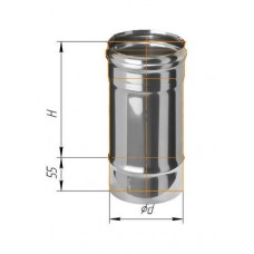Дымоход L=0,25м (430/0,8 мм) Ø 130