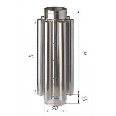 Дымоход конвектор (430/0,8 мм) Ø 130