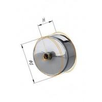 Заглушка с конденсатоотводом (430/0,5 мм) Ф 140 внешняя