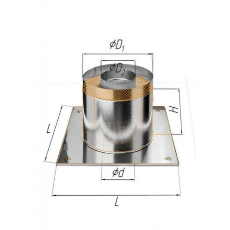 Потолочно проходной узел (430/0,5 мм+термо) Ф 150