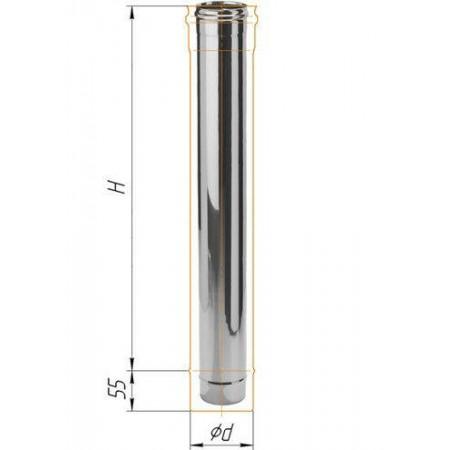 Дымоход L=1м (439/0,8 мм) Ф 160