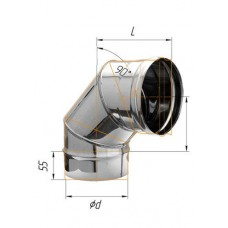 Колено (439/0,8 мм) угол 90° Ф 160