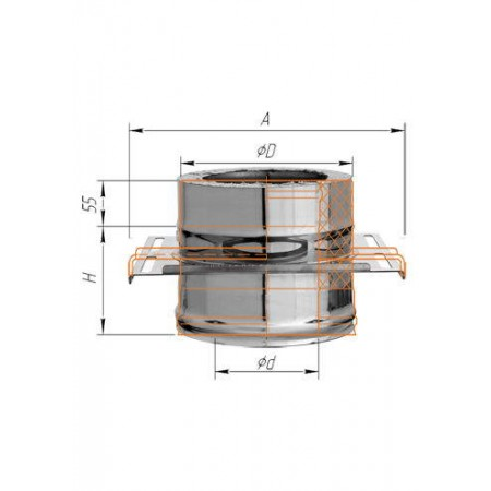 Площадка монтажная (нерж. сталь 2мм) Ф 160х250 К
