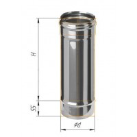 Дымоход L=0,5м (430/0,8 мм) Ø 180