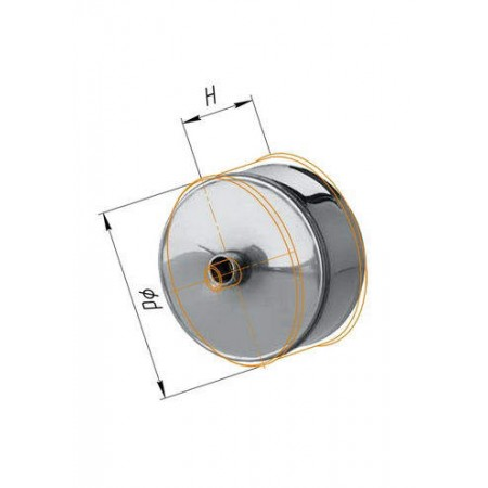 Заглушка с конденсатоотводом (430/0,5 мм) Ф 180 внешняя